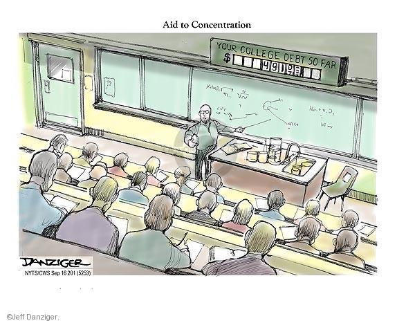 Cartoonist Jeff Danziger  Jeff Danziger's Editorial Cartoons 2012-09-16 college education