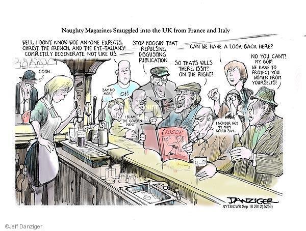 Cartoonist Jeff Danziger  Jeff Danziger's Editorial Cartoons 2012-09-18 tavern