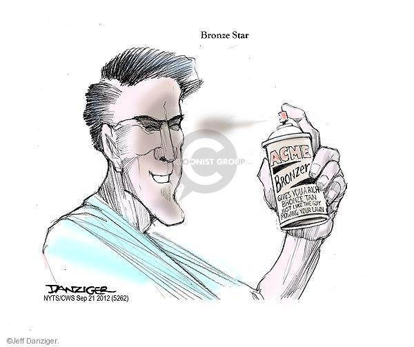 Cartoonist Jeff Danziger  Jeff Danziger's Editorial Cartoons 2012-09-21 spray