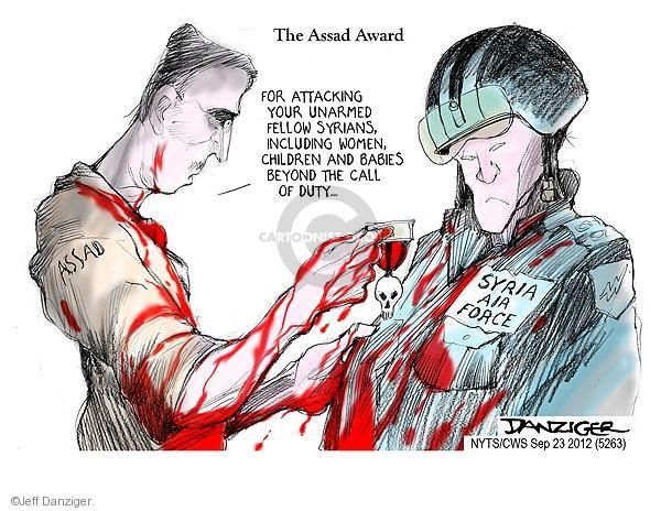 Cartoonist Jeff Danziger  Jeff Danziger's Editorial Cartoons 2012-09-23 duty