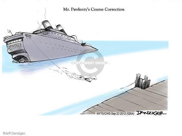 Cartoonist Jeff Danziger  Jeff Danziger's Editorial Cartoons 2012-09-23 sink