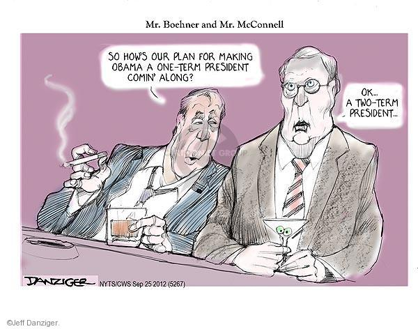 Cartoonist Jeff Danziger  Jeff Danziger's Editorial Cartoons 2012-09-25 Obama republicans