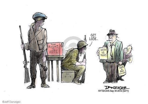Cartoonist Jeff Danziger  Jeff Danziger's Editorial Cartoons 2012-09-30 guard