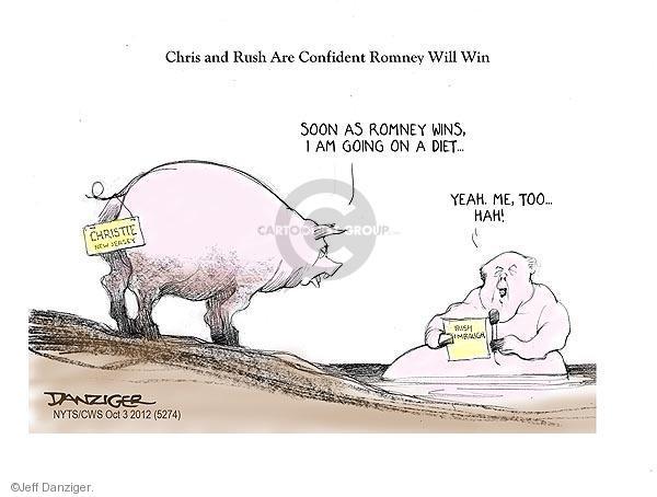 Cartoonist Jeff Danziger  Jeff Danziger's Editorial Cartoons 2012-10-03 Rush Limbaugh