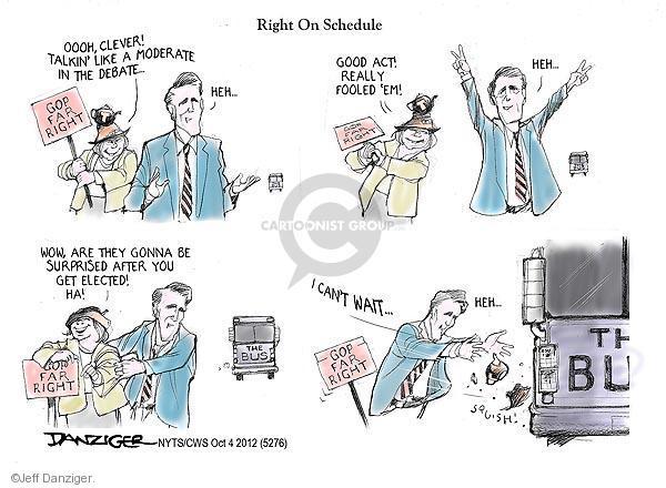 Cartoonist Jeff Danziger  Jeff Danziger's Editorial Cartoons 2012-10-04 party loyalty