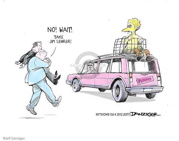 Cartoonist Jeff Danziger  Jeff Danziger's Editorial Cartoons 2012-10-04 candidates republicans