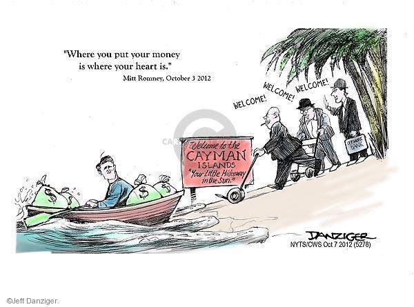 Cartoonist Jeff Danziger  Jeff Danziger's Editorial Cartoons 2012-10-07 candidates republicans