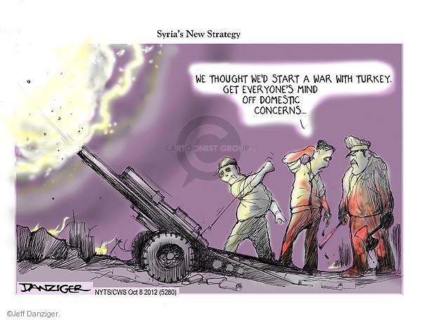 Syrias New Strategy. We though wed start a war with Turkey. Get everyones mind off domestic concerns …