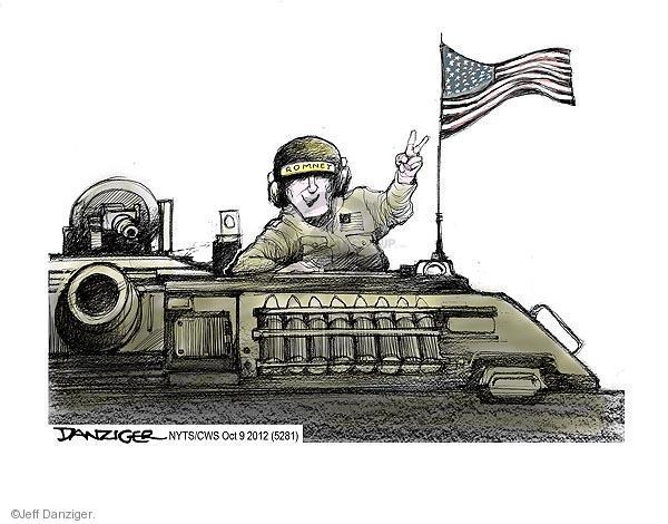 Cartoonist Jeff Danziger  Jeff Danziger's Editorial Cartoons 2012-10-09 campaign sign
