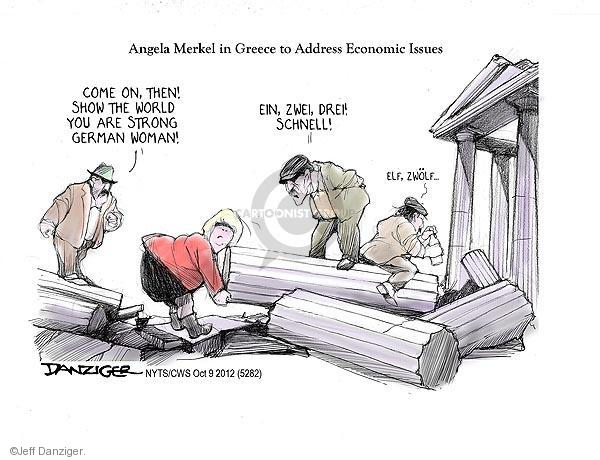 Cartoonist Jeff Danziger  Jeff Danziger's Editorial Cartoons 2012-10-09 woman