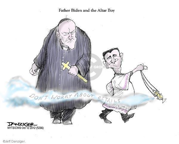 Cartoonist Jeff Danziger  Jeff Danziger's Editorial Cartoons 2012-10-12 Joe Biden