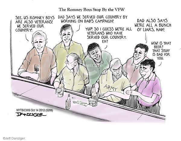 Cartoonist Jeff Danziger  Jeff Danziger's Editorial Cartoons 2012-10-14 guess