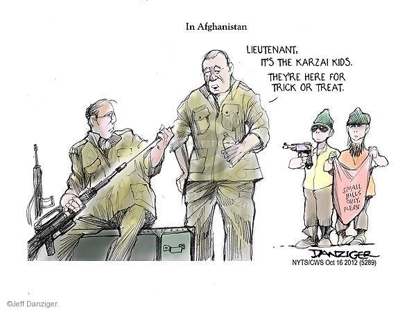 Cartoonist Jeff Danziger  Jeff Danziger's Editorial Cartoons 2012-10-16 trick or treat
