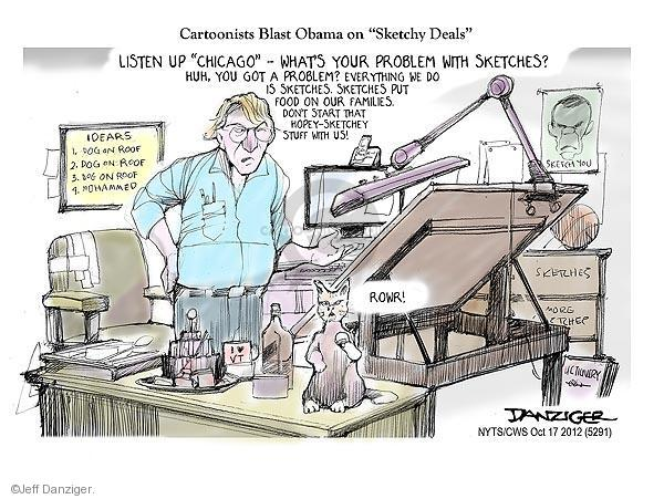 Cartoonist Jeff Danziger  Jeff Danziger's Editorial Cartoons 2012-10-17 do