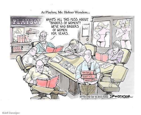 Cartoonist Jeff Danziger  Jeff Danziger's Editorial Cartoons 2012-10-18 fuss