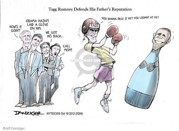 Cartoonist Jeff Danziger  Jeff Danziger's Editorial Cartoons 2012-10-19 Obama republicans