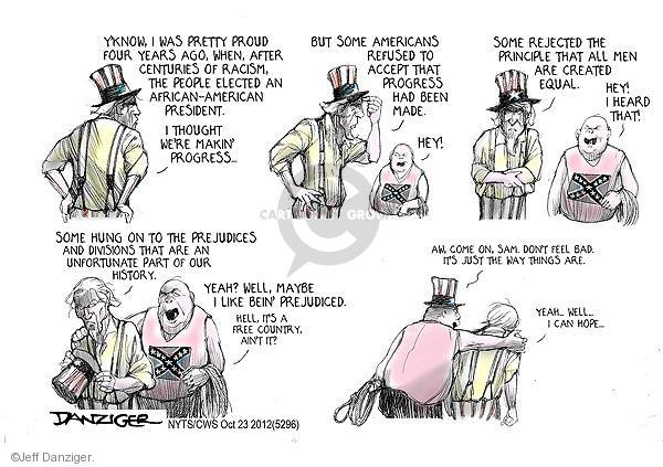 Cartoonist Jeff Danziger  Jeff Danziger's Editorial Cartoons 2012-10-23 confederate flag
