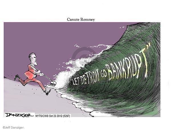 Cartoonist Jeff Danziger  Jeff Danziger's Editorial Cartoons 2012-10-23 Mitt