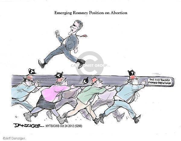 Cartoonist Jeff Danziger  Jeff Danziger's Editorial Cartoons 2012-10-24 party loyalty
