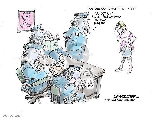 Cartoonist Jeff Danziger  Jeff Danziger's Editorial Cartoons 2012-10-26 2012 election