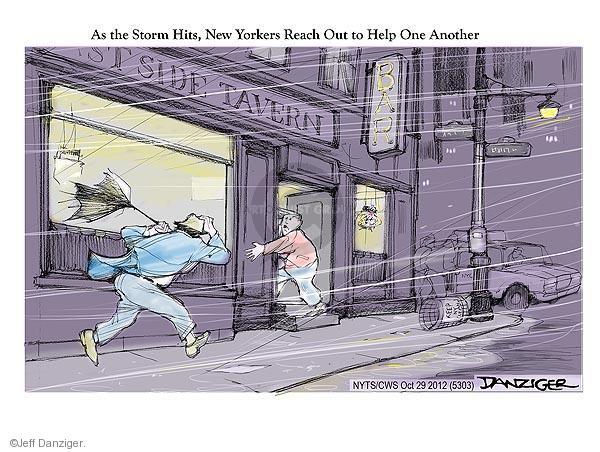 Cartoonist Jeff Danziger  Jeff Danziger's Editorial Cartoons 2012-10-29 tavern