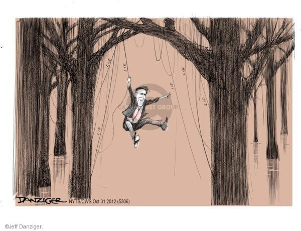 Cartoonist Jeff Danziger  Jeff Danziger's Editorial Cartoons 2012-10-31 2012 election