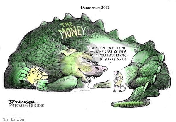 Cartoonist Jeff Danziger  Jeff Danziger's Editorial Cartoons 2012-11-04 2012 election