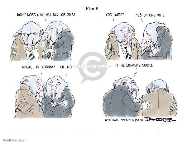 Cartoonist Jeff Danziger  Jeff Danziger's Editorial Cartoons 2012-11-05 don't