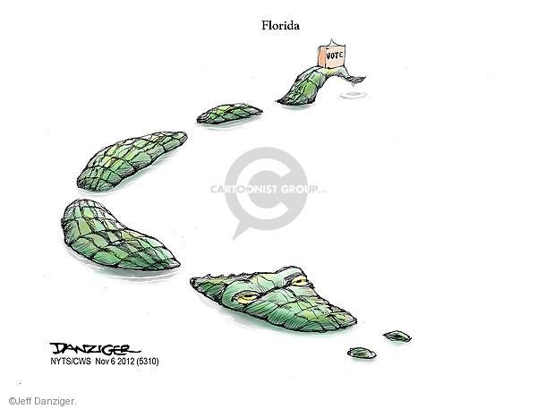 Cartoonist Jeff Danziger  Jeff Danziger's Editorial Cartoons 2012-11-06 2012 election