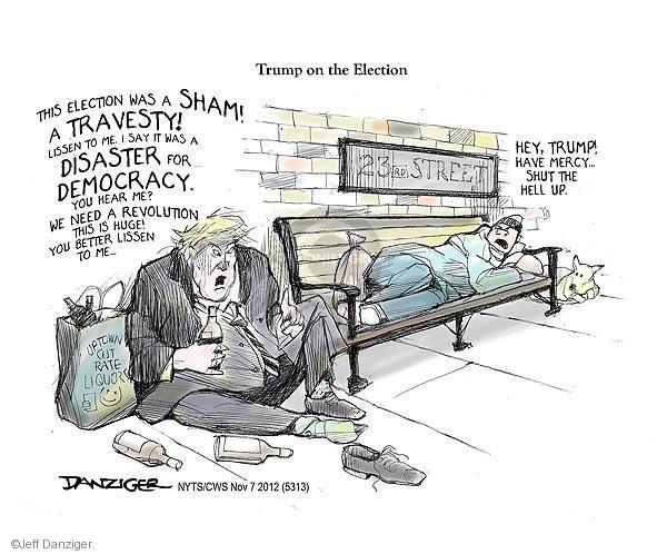 Cartoonist Jeff Danziger  Jeff Danziger's Editorial Cartoons 2012-11-07 2012 election