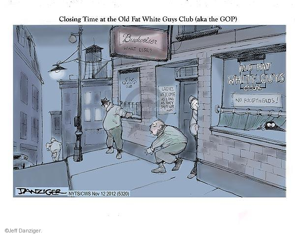 Cartoonist Jeff Danziger  Jeff Danziger's Editorial Cartoons 2012-11-12 2012 election