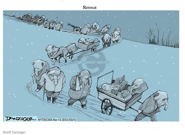 Cartoonist Jeff Danziger  Jeff Danziger's Editorial Cartoons 2012-11-13 candidates republicans