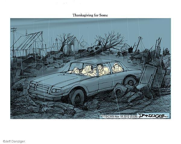 Cartoonist Jeff Danziger  Jeff Danziger's Editorial Cartoons 2012-11-18 Thanksgiving