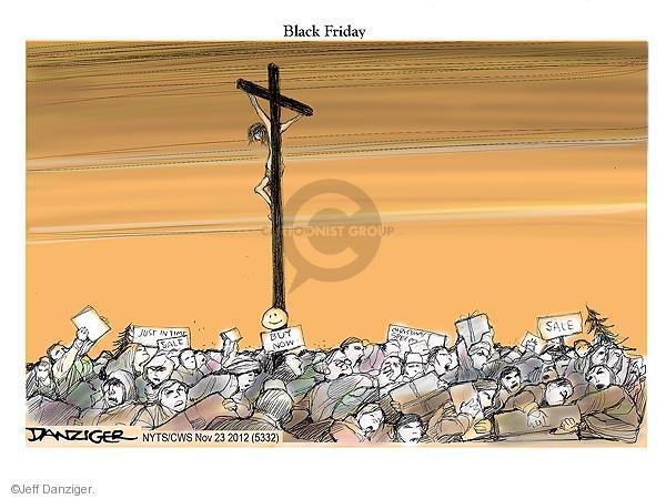 Cartoonist Jeff Danziger  Jeff Danziger's Editorial Cartoons 2012-11-23 cross