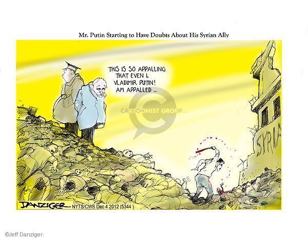 Cartoonist Jeff Danziger  Jeff Danziger's Editorial Cartoons 2012-12-04 doubt