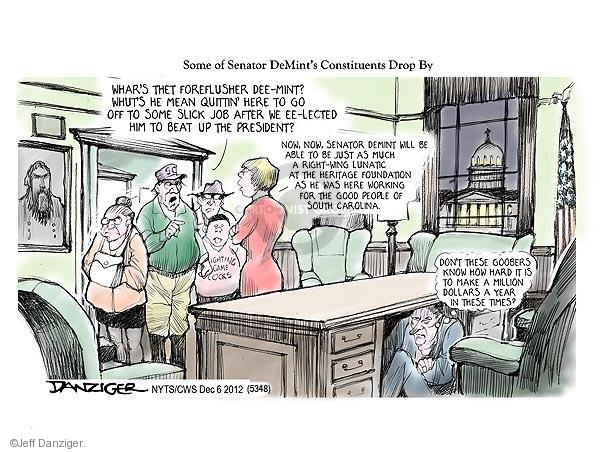 Cartoonist Jeff Danziger  Jeff Danziger's Editorial Cartoons 2012-12-06 don't