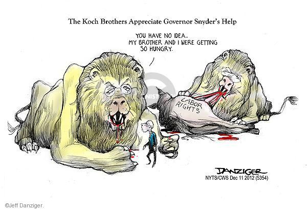 Jeff Danziger  Jeff Danziger's Editorial Cartoons 2012-12-11 Koch brothers