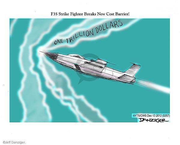 Jeff Danziger  Jeff Danziger's Editorial Cartoons 2012-12-13 defense spending