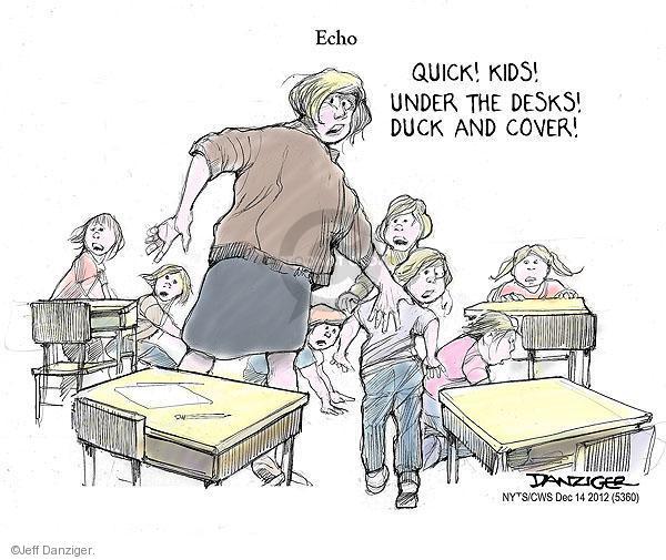 Cartoonist Jeff Danziger  Jeff Danziger's Editorial Cartoons 2012-12-14 Connecticut