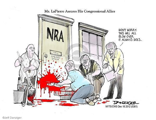 Cartoonist Jeff Danziger  Jeff Danziger's Editorial Cartoons 2012-12-15 school shooting