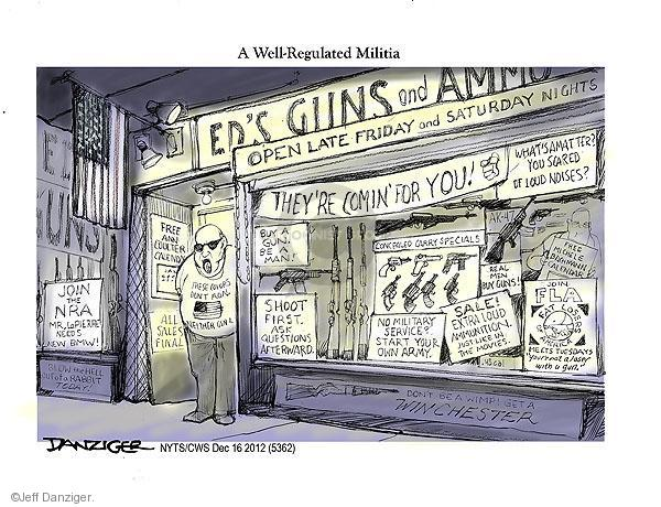 Cartoonist Jeff Danziger  Jeff Danziger's Editorial Cartoons 2012-12-16 don't