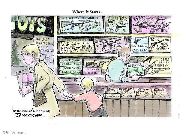 Cartoonist Jeff Danziger  Jeff Danziger's Editorial Cartoons 2012-12-17 helmet