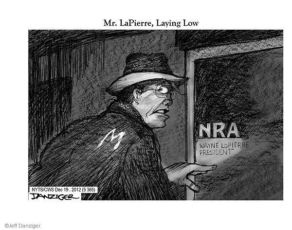 Cartoonist Jeff Danziger  Jeff Danziger's Editorial Cartoons 2012-12-19 school shooting