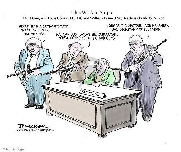 Cartoonist Jeff Danziger  Jeff Danziger's Editorial Cartoons 2012-12-20 school shooting