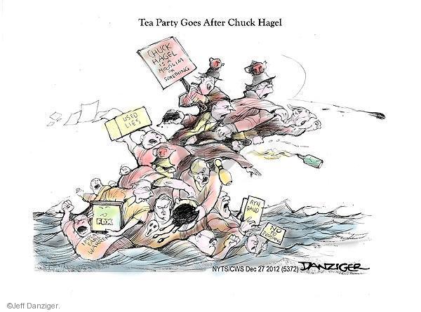 Cartoonist Jeff Danziger  Jeff Danziger's Editorial Cartoons 2012-12-27 party loyalty