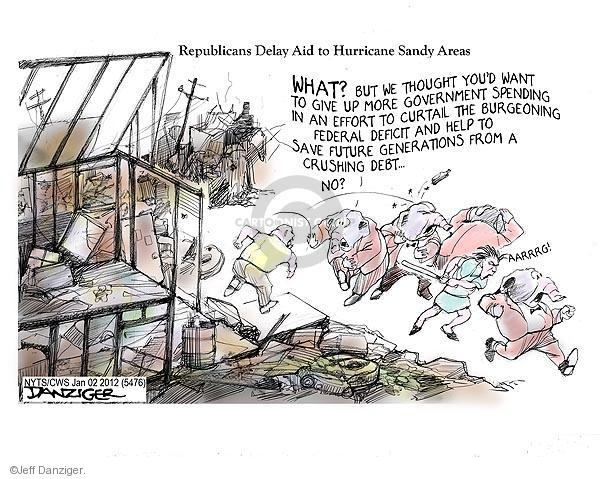 Cartoonist Jeff Danziger  Jeff Danziger's Editorial Cartoons 2013-01-02 federal debt