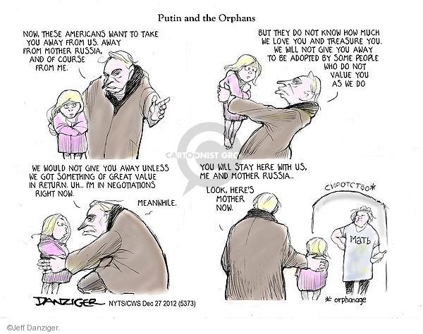 Cartoonist Jeff Danziger  Jeff Danziger's Editorial Cartoons 2012-12-27 adopt