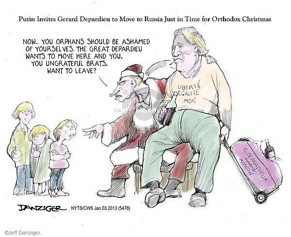 Cartoonist Jeff Danziger  Jeff Danziger's Editorial Cartoons 2013-01-03 Christmas