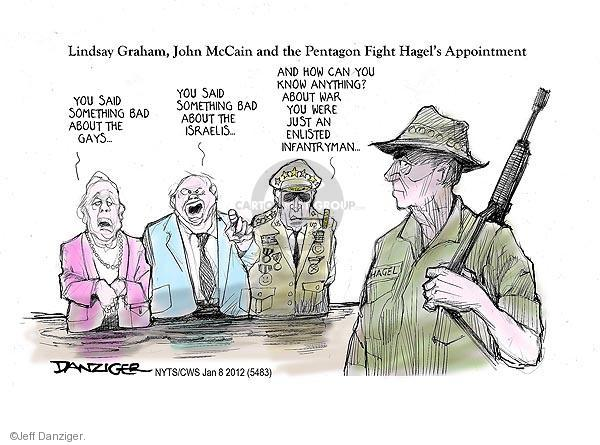Jeff Danziger  Jeff Danziger's Editorial Cartoons 2013-01-08 Chuck