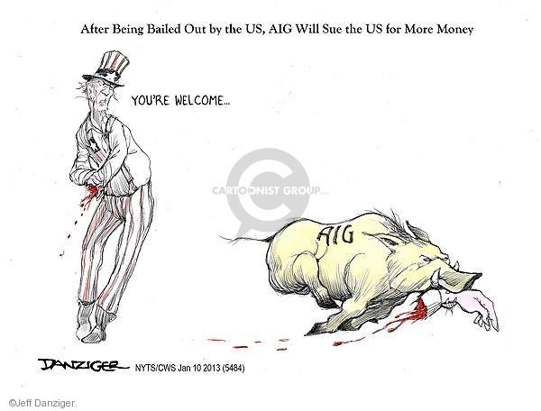 Cartoonist Jeff Danziger  Jeff Danziger's Editorial Cartoons 2013-01-10 United States